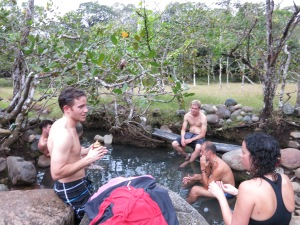 Crew at the Hot Springs