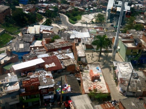 View over the slums of Medellin