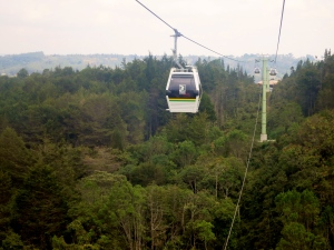The Cable Cars over Parque Arví