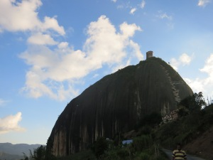 La Piedra of El Peńol. The huge rock is accessible by a staircase of ~650 stairs and the view from the top is stunning