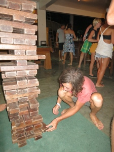Note to Self: Life sized Jenga requires more skill than the normal size