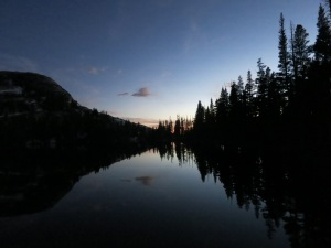 Sunset at Cathedral Lake