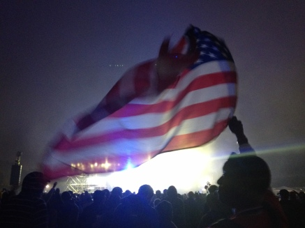 Flag at Outside Lands Music Festival in San Francisco, California